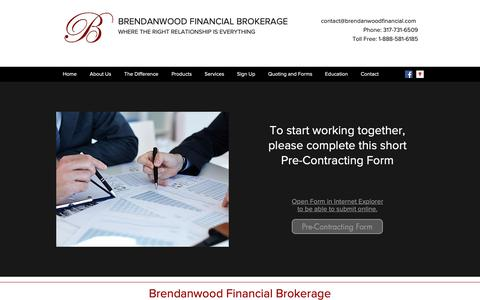 Screenshot of Signup Page brendanwoodfinancial.com - Sign Up | Brendanwood Financial Brokerage - captured Oct. 6, 2018