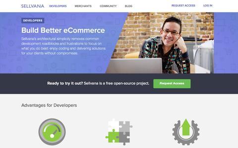 Screenshot of Developers Page sellvana.com - Developers :: Sellvana - captured Sept. 17, 2014