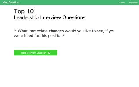 Screenshot of Team Page mockquestions.com - Leadership Interview Questions   MockQuestions - captured Feb. 18, 2016