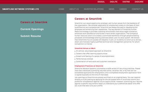 Screenshot of Jobs Page smartlink.co.in - Career | Smartlink - captured Feb. 18, 2016