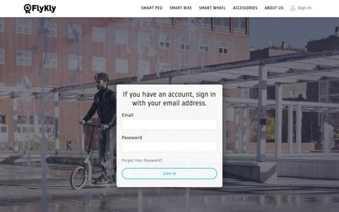 Screenshot of Login Page flykly.com - Customer Login - captured Nov. 6, 2018