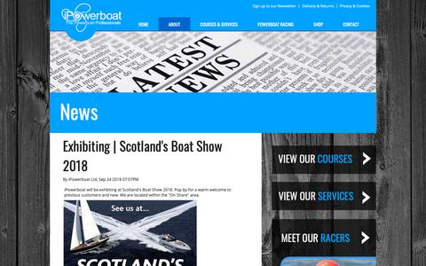 Screenshot of Press Page ipowerboat.co.uk - News   iPowerboat   Events   Special Offers   Keep Up to Date - captured Nov. 26, 2018
