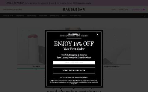 Get Help | BaubleBar