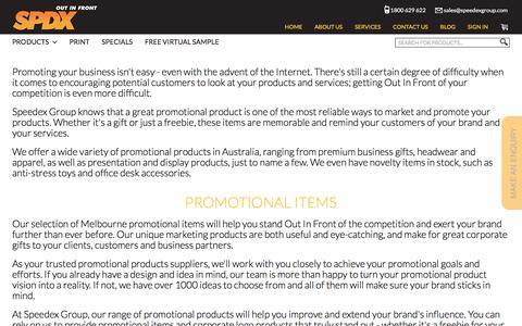 Screenshot of Products Page speedexgroup.com - Promotional Products Australia | Speedex Group - captured Dec. 9, 2016