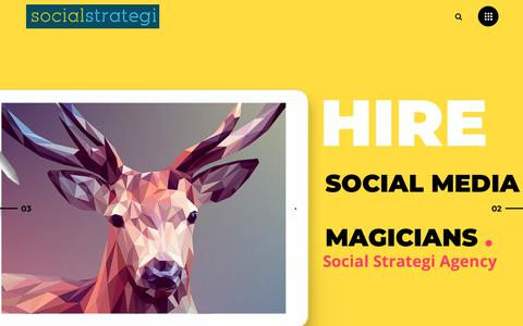 Screenshot of Home Page socialstrategi.com - Social Media Agency, Academy & Accelerator – Social Strategi - captured July 14, 2018