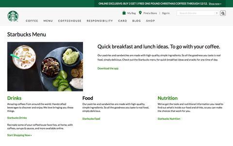 Starbucks Menu | Quick Breakfast Ideas | Starbucks Coffee Company