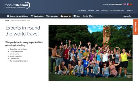 Screenshot of About Page travelnation.co.uk - Experts in round the world travel | Travel Nation - captured Oct. 30, 2014