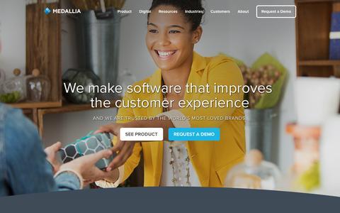 Screenshot of Home Page medallia.com - Medallia Home - Medallia - captured Dec. 17, 2016