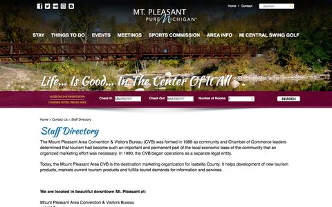 Screenshot of About Page mountpleasantwow.com - Staff Directory - Mount Pleasant Wow - captured Oct. 21, 2017