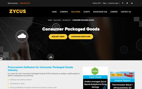 Procurement Solutions for Consumer Packaged Goods (CPG) Industry - Zycus