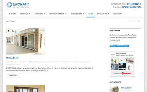 Screenshot of Blog encraft.in - Blogs - UPVC Windows, UPVC Doors,upvc windows and doors manufacturers. - captured Jan. 16, 2020