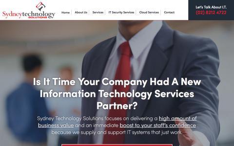 Screenshot of Home Page sydneytech.com.au - Sydney IT Support   (02) 8212 4722   IT Services Sydney - captured Nov. 2, 2017