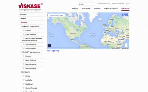 Screenshot of Locations Page viskase.com - Locations | VISKASE® Companies, Inc. - captured Oct. 26, 2014