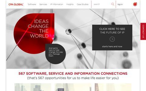 Screenshot of Home Page cpaglobal.com - CPA Global - captured April 28, 2016