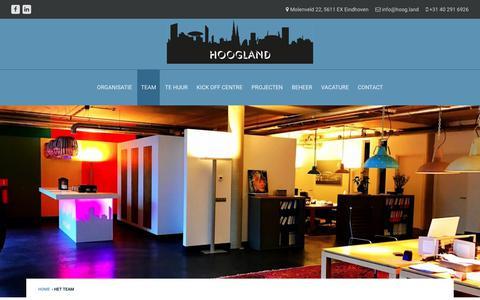 Screenshot of Team Page hoog.land - Het team - Hoog.land - captured Nov. 21, 2018