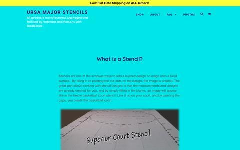 Screenshot of FAQ Page ursamajorstencils.com - Why Stencils? – Ursa Major Stencils - captured Feb. 12, 2018