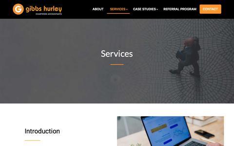 Screenshot of Services Page gibbsca.com.au - Services - Gibbs Hurley Pty Ltd - captured Nov. 10, 2018