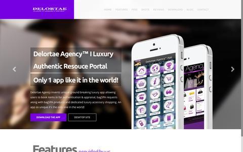 Screenshot of Home Page delortaeagency.com - Luxury App PortalHome | Luxury App Portal - captured Jan. 24, 2015