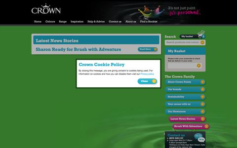 Screenshot of Press Page crownpaints.co.uk - Latest News Stories | Crown Paint - captured Oct. 27, 2014