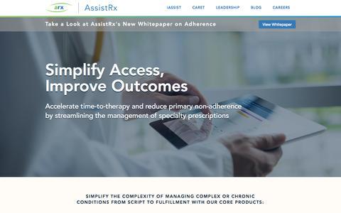 Screenshot of Home Page assistrx.com - Home - AssistRx - captured July 30, 2018