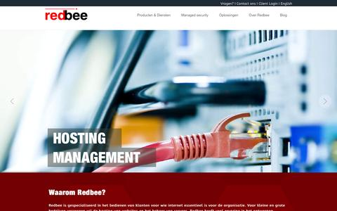 Screenshot of Home Page redbee.nl - Redbee | Full Security & Managed Hosting - captured Feb. 1, 2016