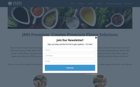 Screenshot of Products Page jmhpremium.com - Products ⋆ JMH Premium - captured Oct. 2, 2018