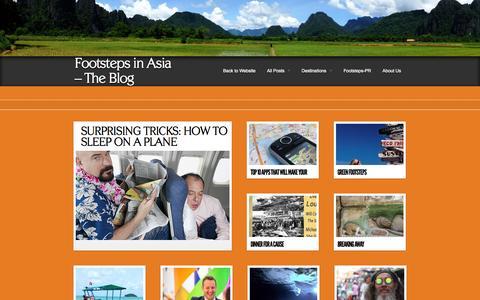 Screenshot of Blog footstepsinasia.com - Footsteps in Asia – The Blog  Footsteps in Asia - The Blog - captured Oct. 6, 2014