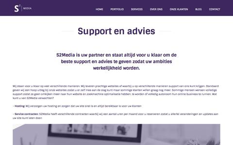 Screenshot of Support Page s2media.co - Support van full service internetburea S2Media Breda |  Website support - captured Nov. 5, 2014