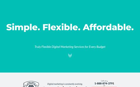 Screenshot of Home Page mainstreethost.com - Affordable SEO Services Company | Mainstreethost Digital Marketing Agency - captured April 21, 2018