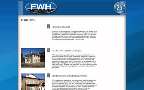 Screenshot of Press Page fwhassociates.com - FWH Associates | News | Articles - captured Jan. 8, 2016