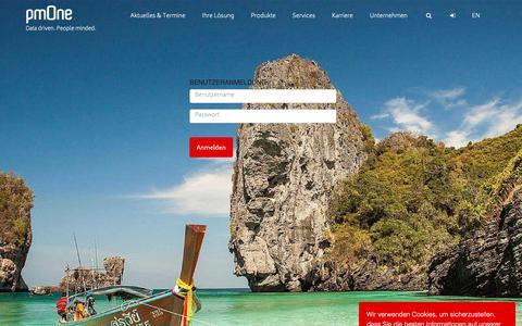 Screenshot of Login Page pmone.com - Zugang zum passwortgeschützten Bereich - captured Sept. 30, 2018