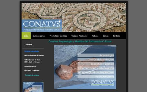Screenshot of Home Page conatus.es - Conatus Arqueología, S.L. - captured Oct. 2, 2014