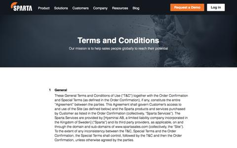 Terms and Conditions - Sparta