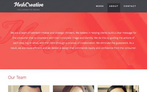 Screenshot of About Page meshcreative.com - Our Team | MeshCreative - captured Jan. 10, 2016