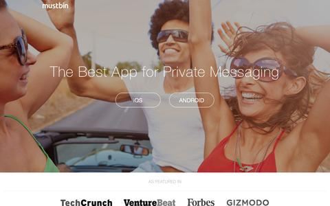 Mustbin | The best messaging app for private photos and messages