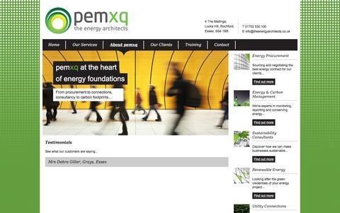 Screenshot of Testimonials Page pemxq.com - Testimonials   pemxq - captured Dec. 8, 2015