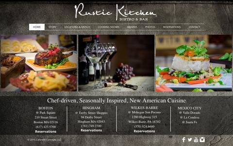 Screenshot of Home Page rustickitchen.biz - Rustic Kitchen Bistro & Bar - captured Aug. 12, 2015