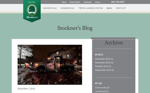 Screenshot of Blog stockners.com - Stockner's Landscaping Hardscaping & Irrigation Blog   Richmond Va - captured Sept. 30, 2014