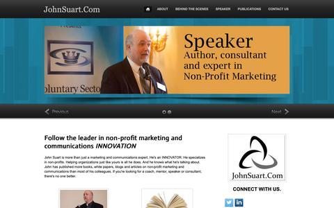 Screenshot of Home Page johnsuart.com - Home - JohnSuart.Com - captured Oct. 14, 2018