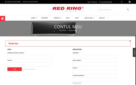 Screenshot of Signup Page Login Page atmd.ro - RED RING Contul meu - RED RING - captured Feb. 7, 2016