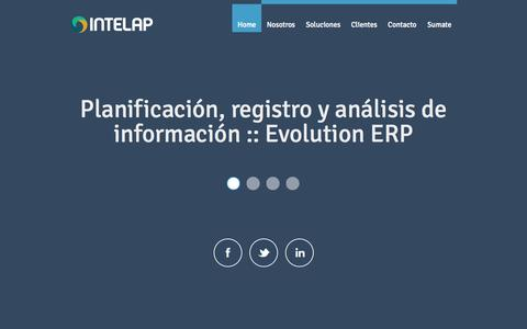 Screenshot of Home Page intelap.com - Intelap - captured Sept. 30, 2014