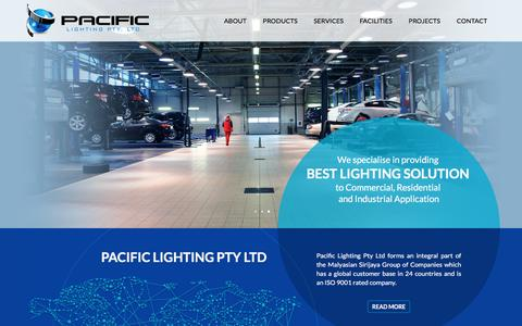 Screenshot of Home Page pacificlighting.com.au - Pacific Lighting Australia | Specialise in providing best lighting solution to commercial, residential and industrial application. - captured May 13, 2017