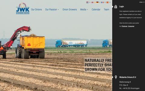 Screenshot of Home Page wiskerke-onions.nl - Wiskerke Onions, the Shortest Line from Producer to Consumer | Wiskerke Onions - captured Feb. 21, 2016