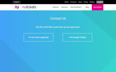 Screenshot of Contact Page nutickets.com - Contact Us | Nutickets - captured Sept. 30, 2014