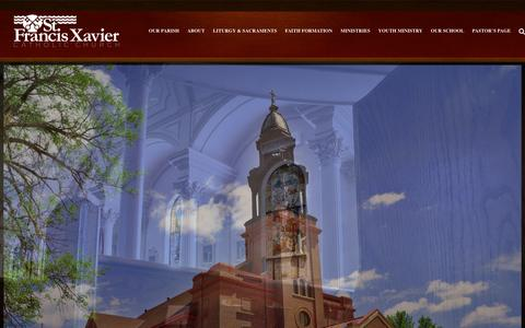 Screenshot of Home Page stfxb.org - Home - St. Francis Xavier - captured Feb. 22, 2016