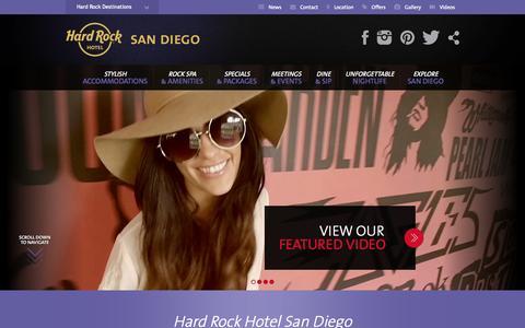Screenshot of Home Page hardrockhotelsd.com - Luxury San Diego Hotels - Hard Rock Hotel San Diego - captured Sept. 23, 2014