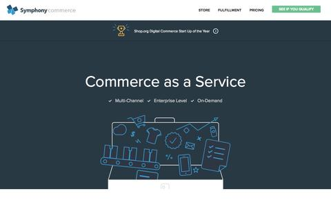 Screenshot of Home Page symphonycommerce.com - Symphony Commerce | Commerce as a Service - captured Jan. 15, 2015