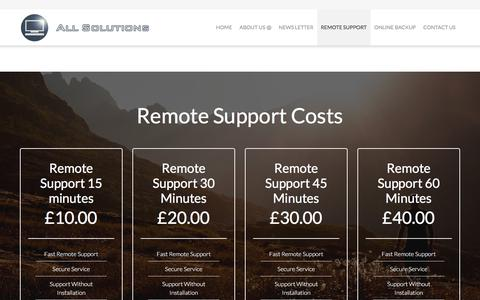 Screenshot of Pricing Page bournemouth-computer-sales.co.uk - Remote Support – Bournemouth Computer Repairs - captured Oct. 8, 2017