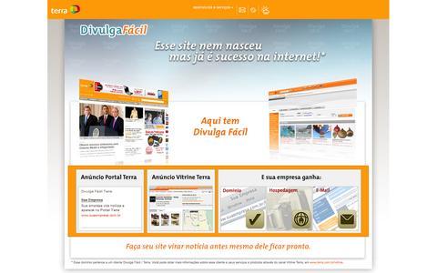 Screenshot of Home Page frade.com.br - Divulga Fácil - captured Oct. 1, 2014