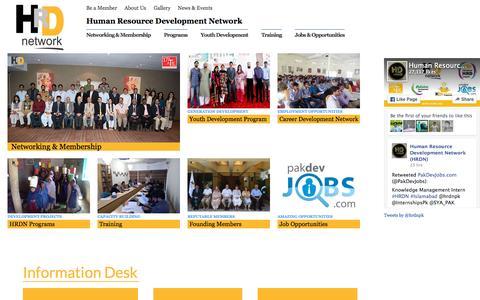 Screenshot of Home Page hrdn.net - HRDN - Human Resource Development Network - captured Sept. 30, 2015